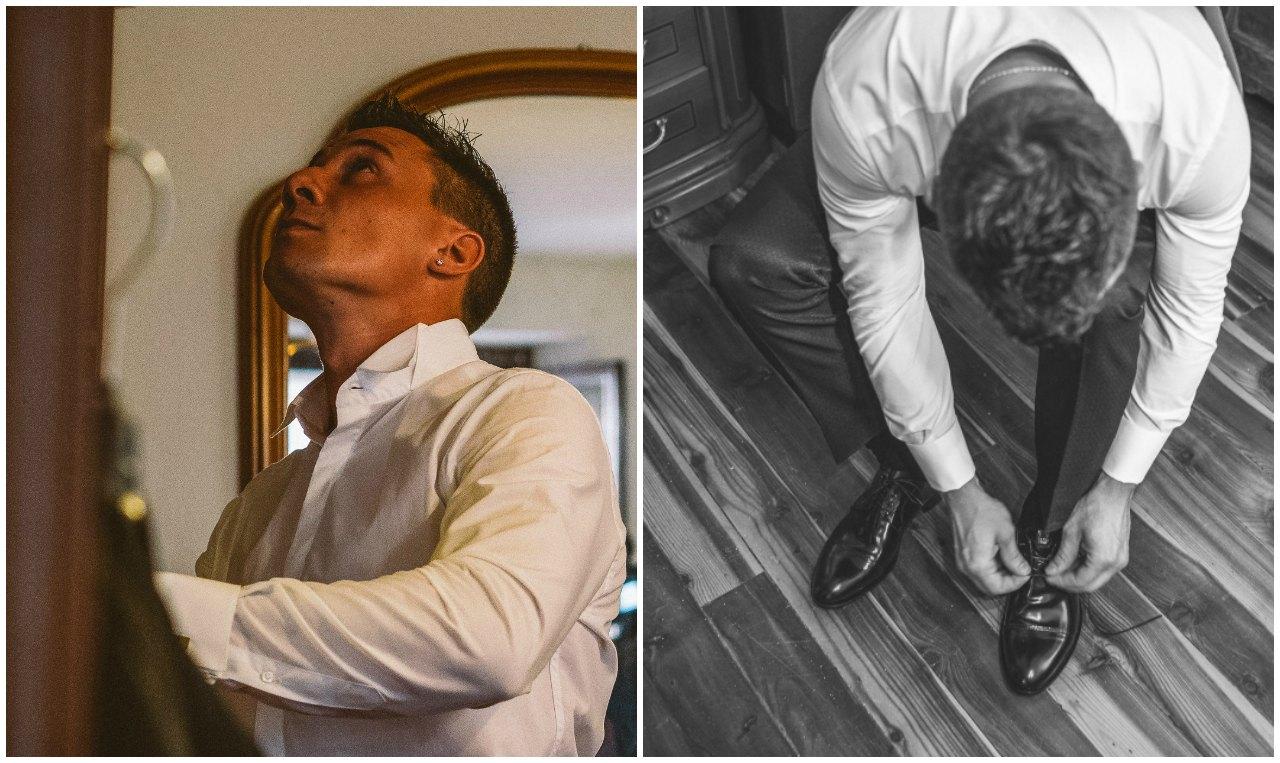 Matrimonio Hotel Sassella Grosio: preparazione dello sposo
