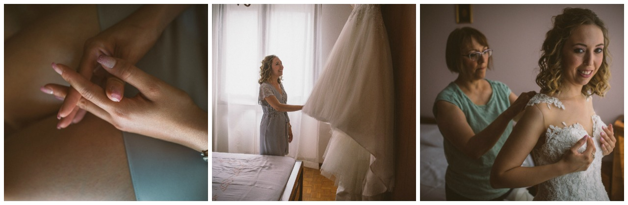 matrimonio a Villa Canton: la sposa e il suo abito