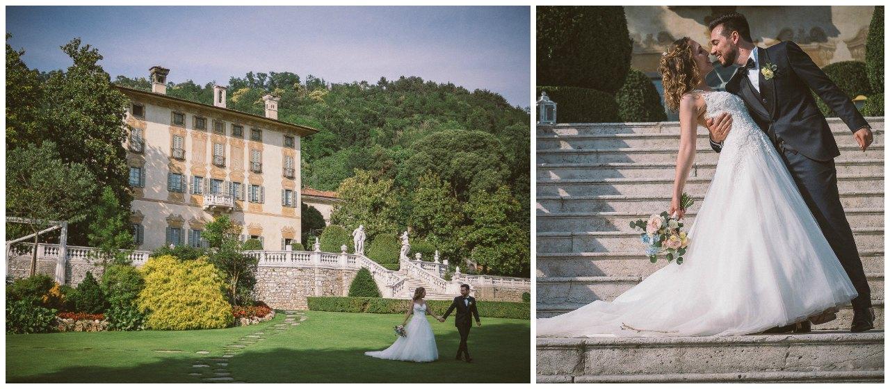 Matrimonio a Villa Canton: la passeggiata degli sposi