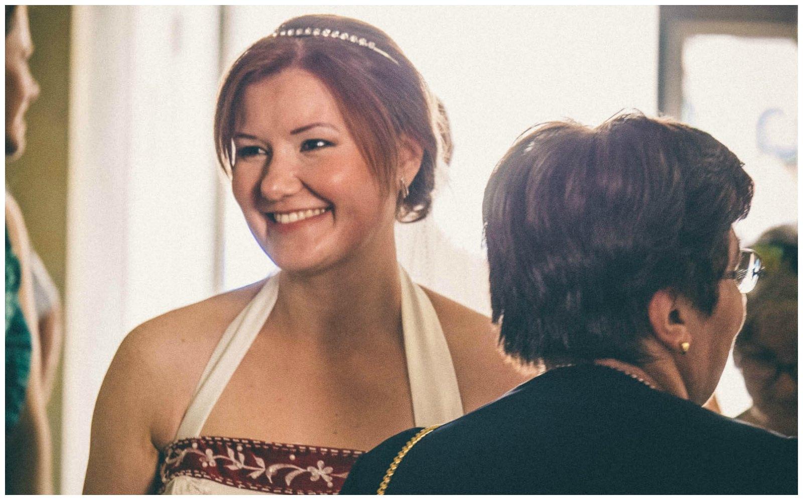 Matrimonio civile a Palazzo Reale Milano: il sorriso della sposa