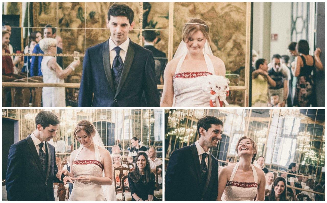 Matrimonio civile a Palazzo Reale Milano: gli sposi si scambiano le fedi