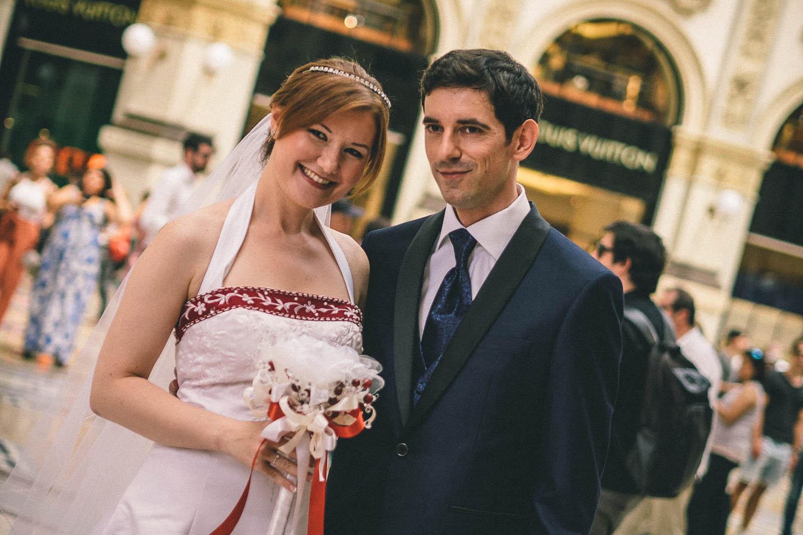 Matrimonio a Milano: passeggiata in Galleria Vittorio Emanuele