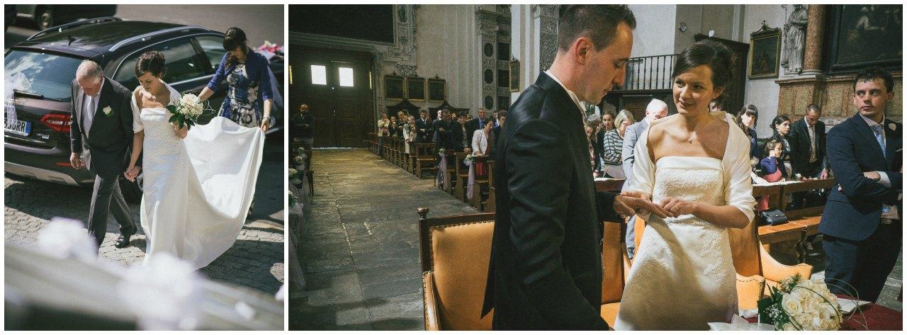 matrimonio a grosio arrivo in chiesa