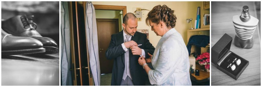 matrimonio cascina caremma: preparazione sposo