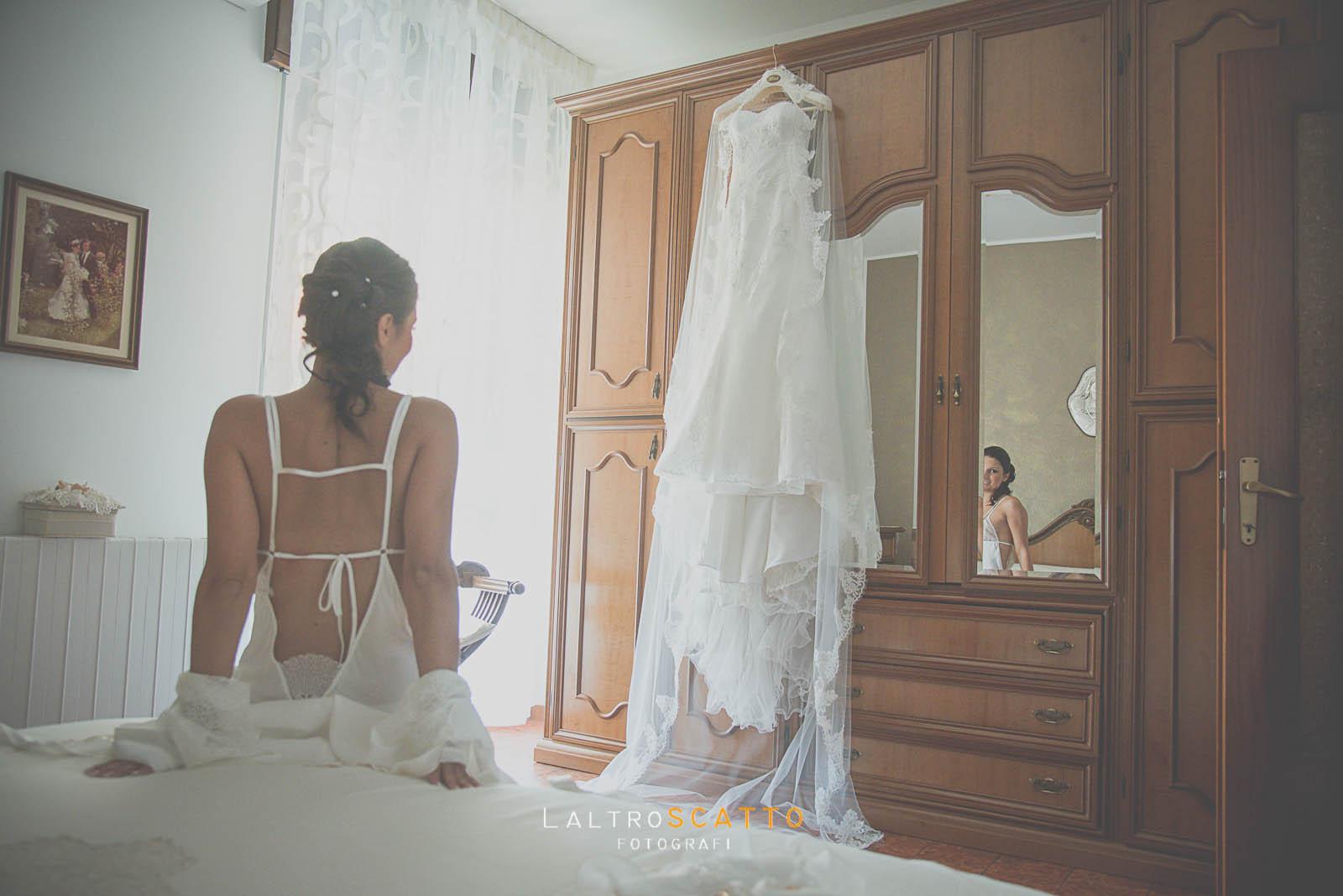 foto di matrimonio abito da sposa