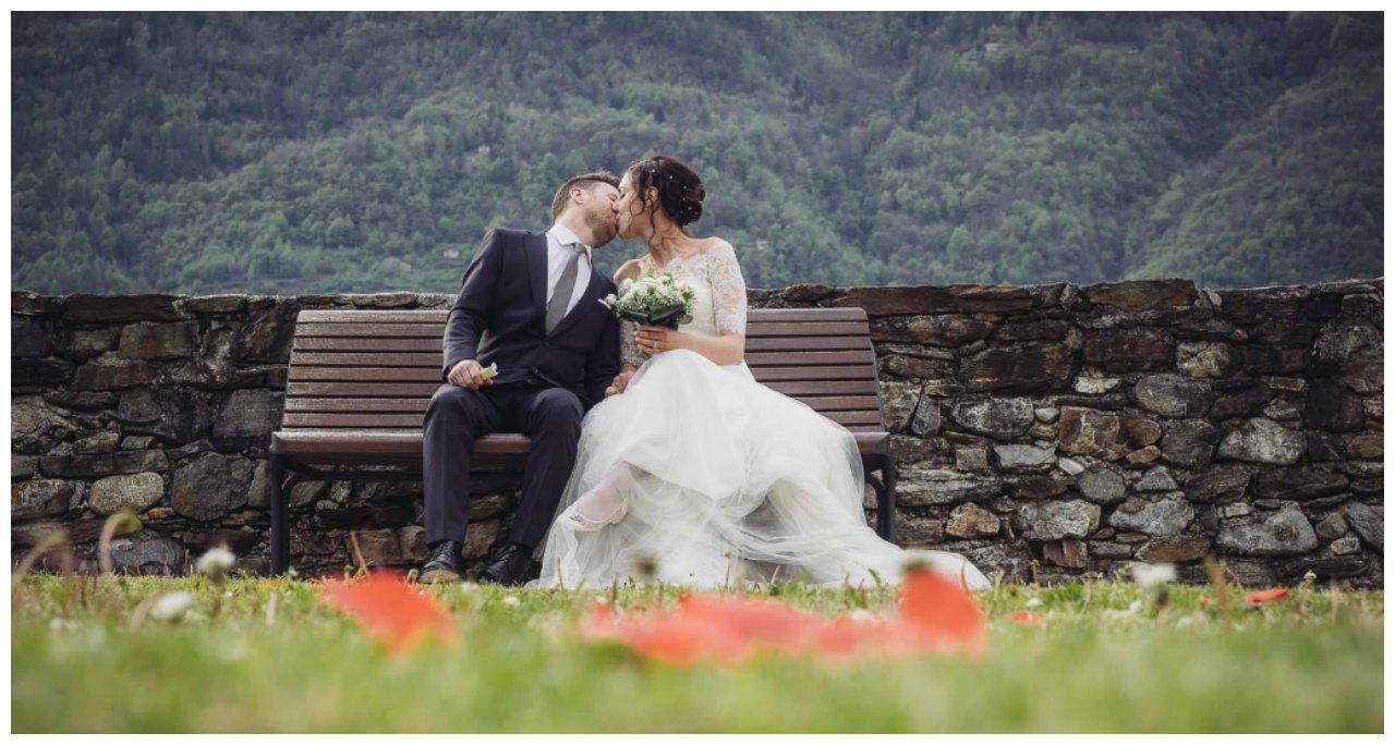 matrimonio a Tirano: la passeggiata degli sposi
