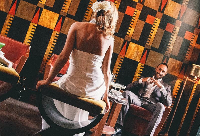 acconciature sposa: gli sposi innamorati