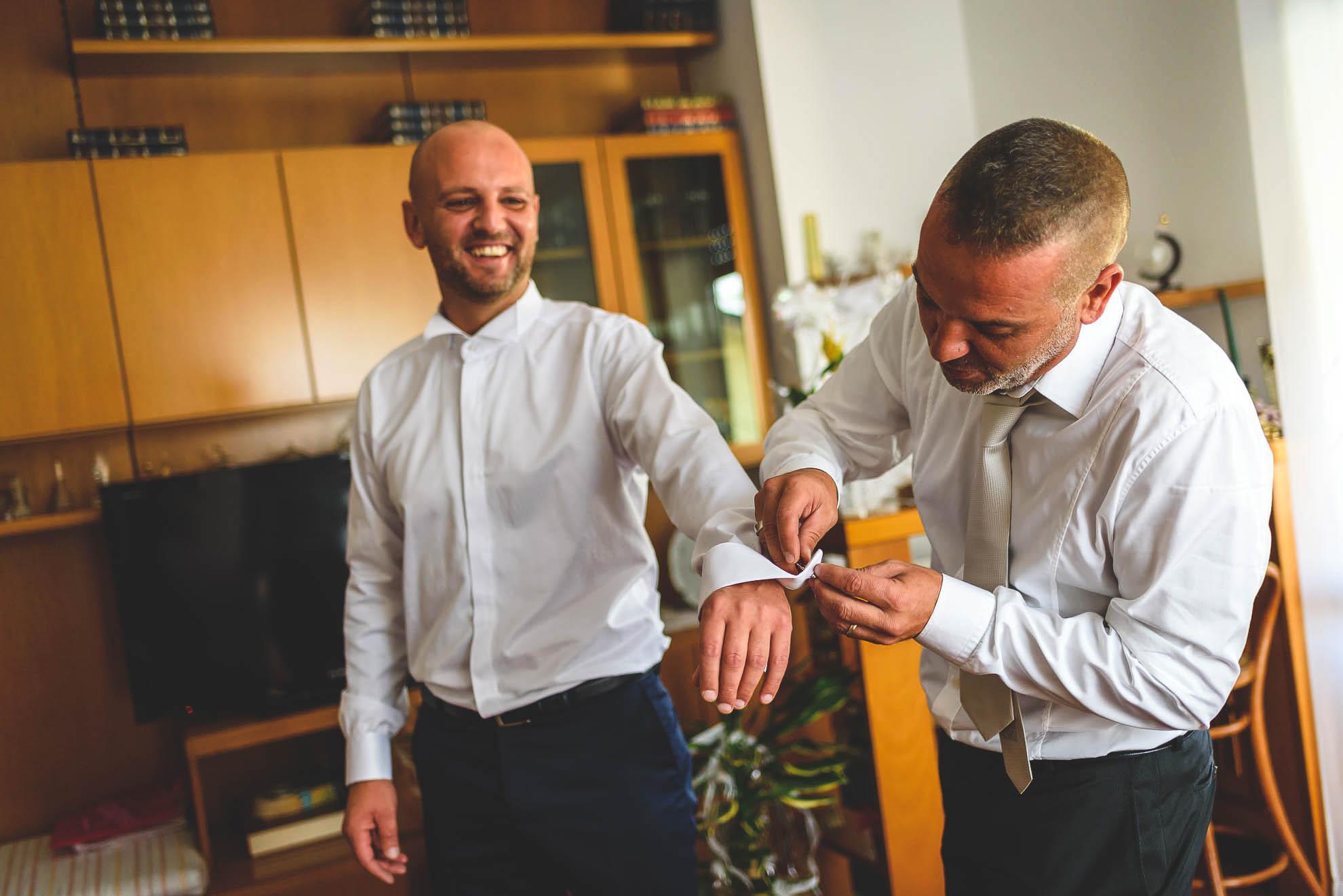 matrimonio Castello Pagazzano: la preparazione dello sposo