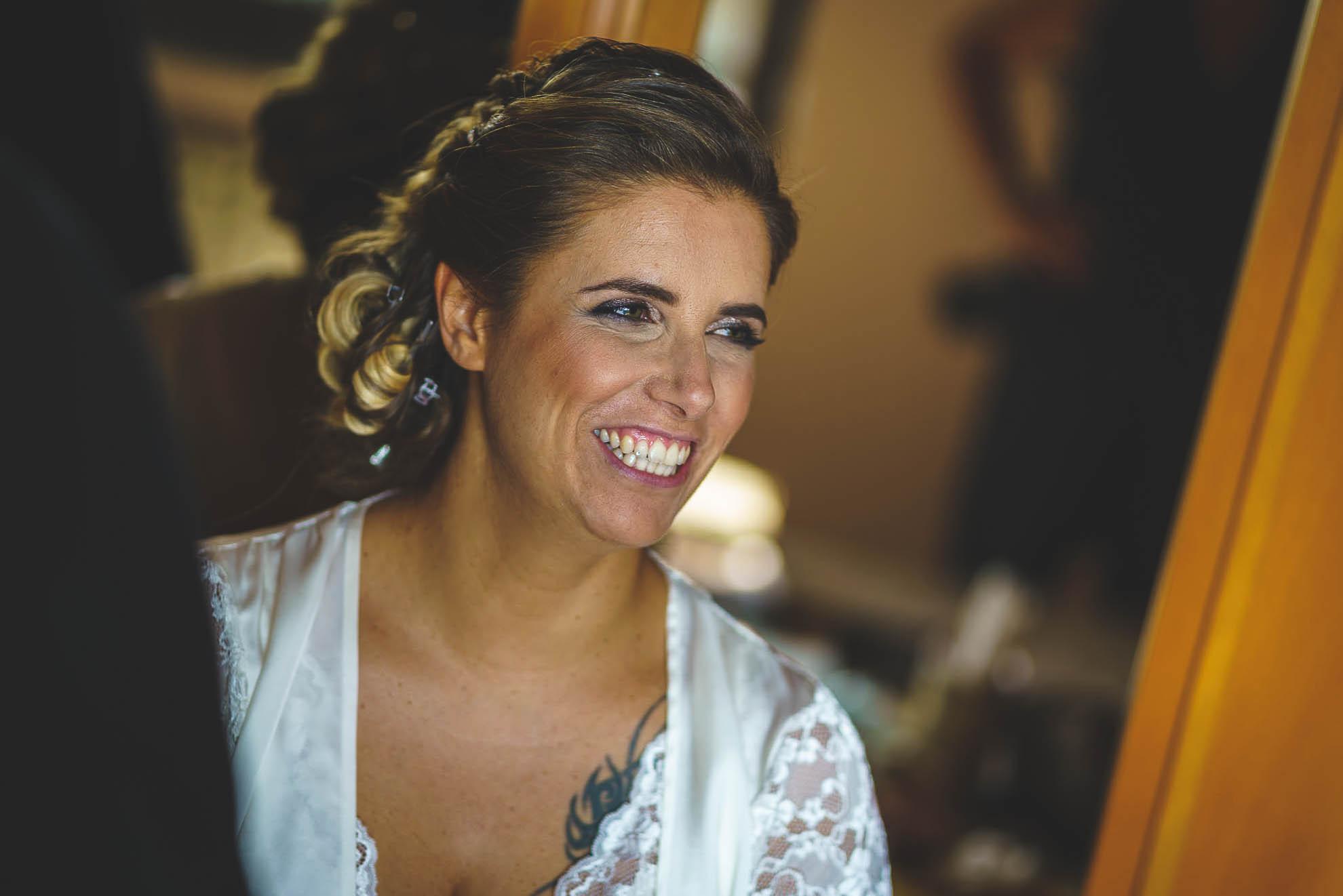 matrimonio al Castello di Pagazzano: il sorriso della sposa