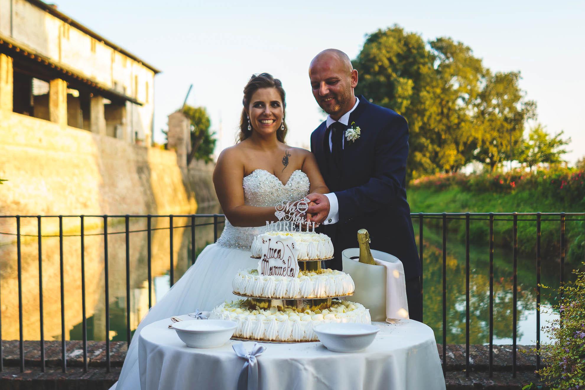 matrimonio al Castello di Pagazzano: il taglio della torta