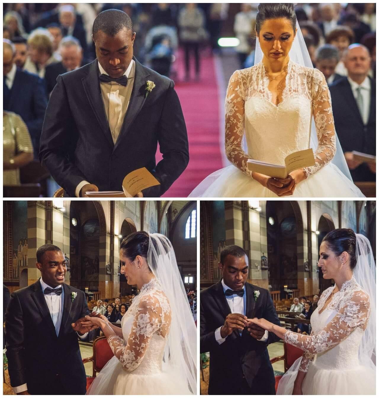 matrimonio a Bergamo: gli sposi e la promessa in chiesa