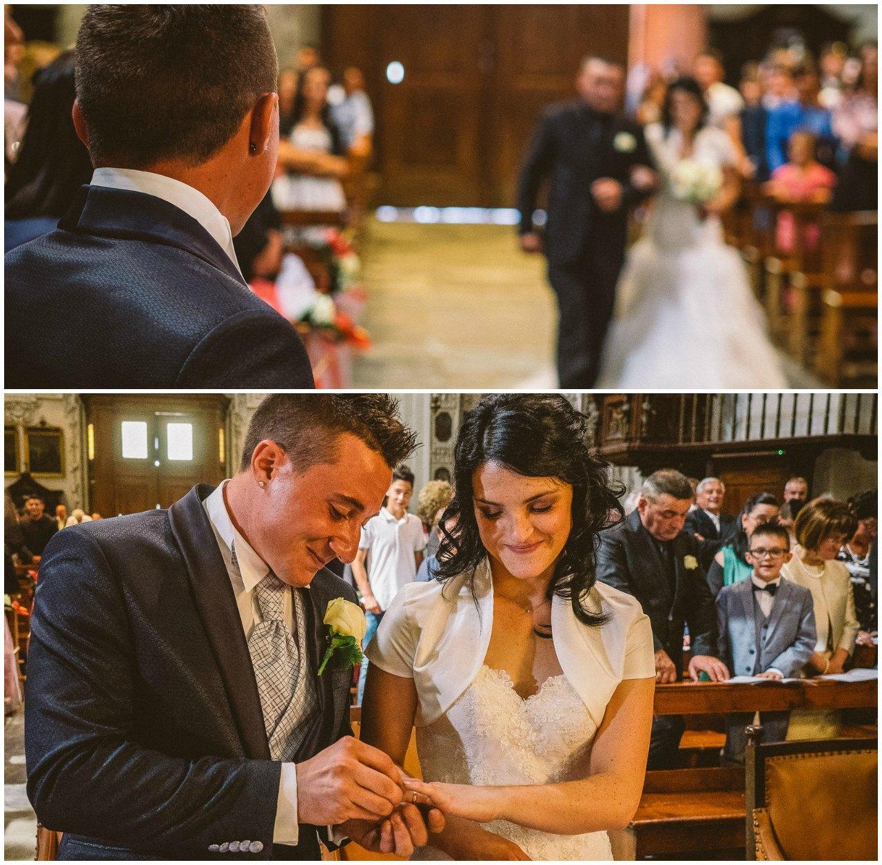 Matrimonio a Grosio: l'arrivo in chiesa e lo scambio delle fedi