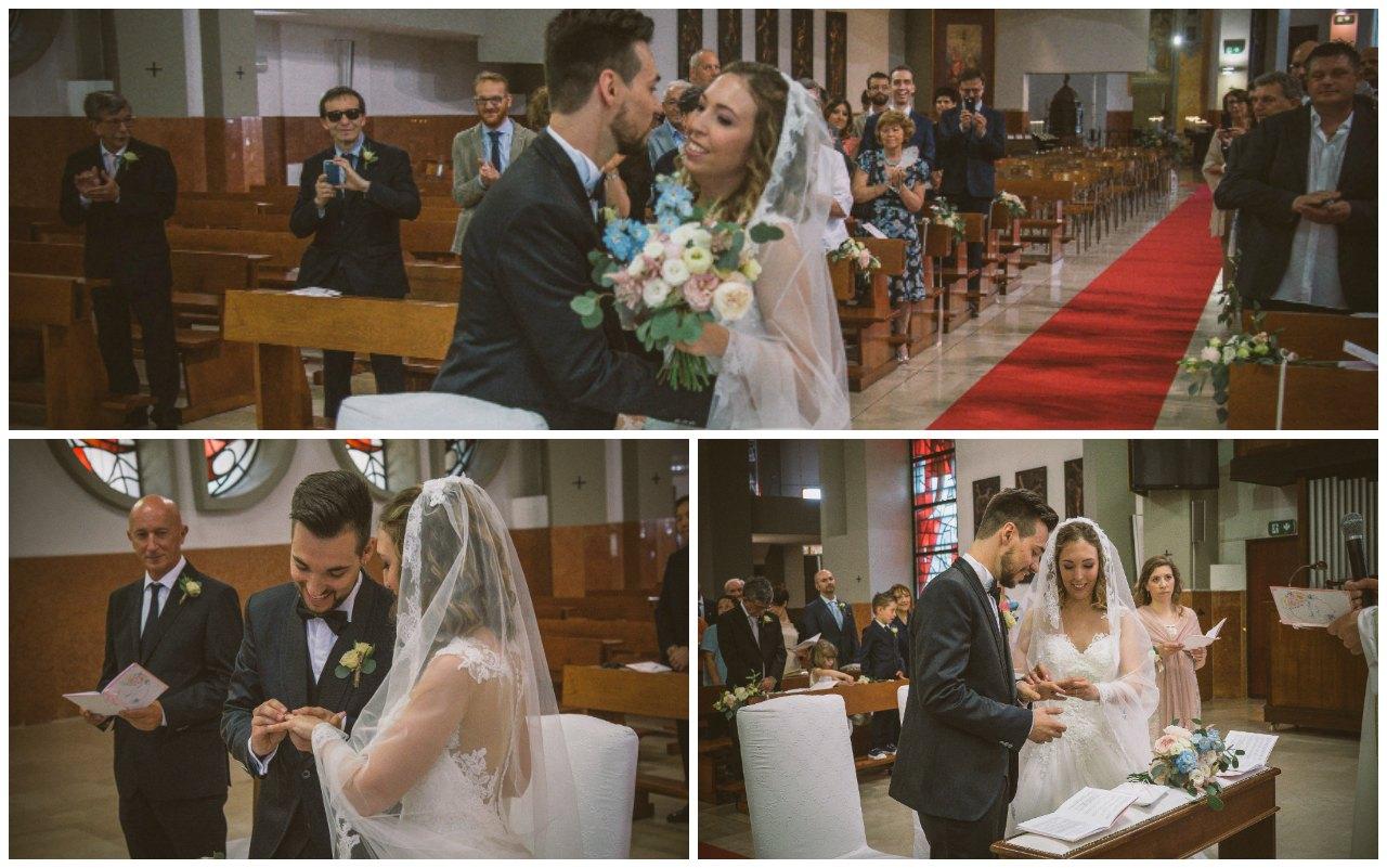 matrimonio a Bergamo: gli sposi, la promessa e lo scambio degli anelli