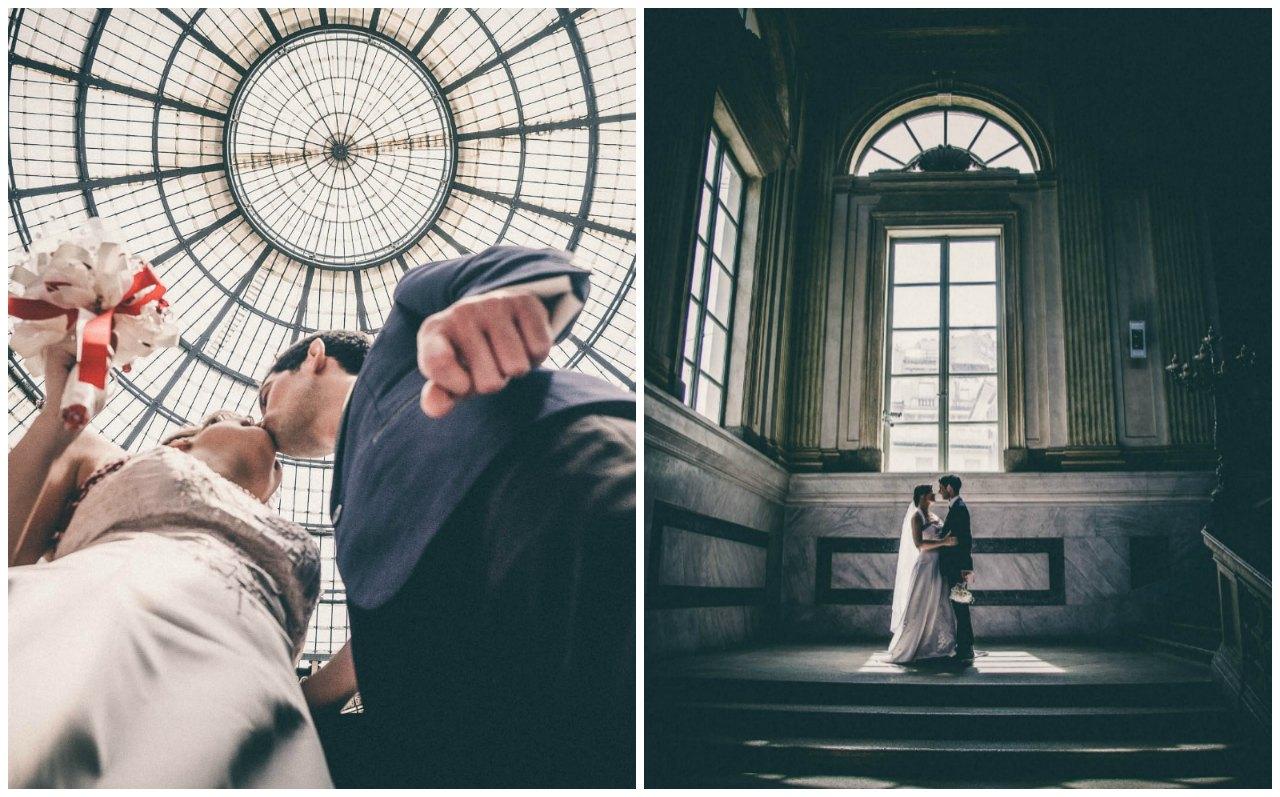 Matrimonio civile a Palazzo Reale Milano: gli sposi passeggiano per il centro di Milano
