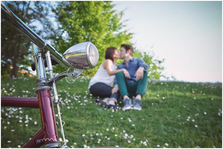 foto engagement al parco, Alice e Andrea