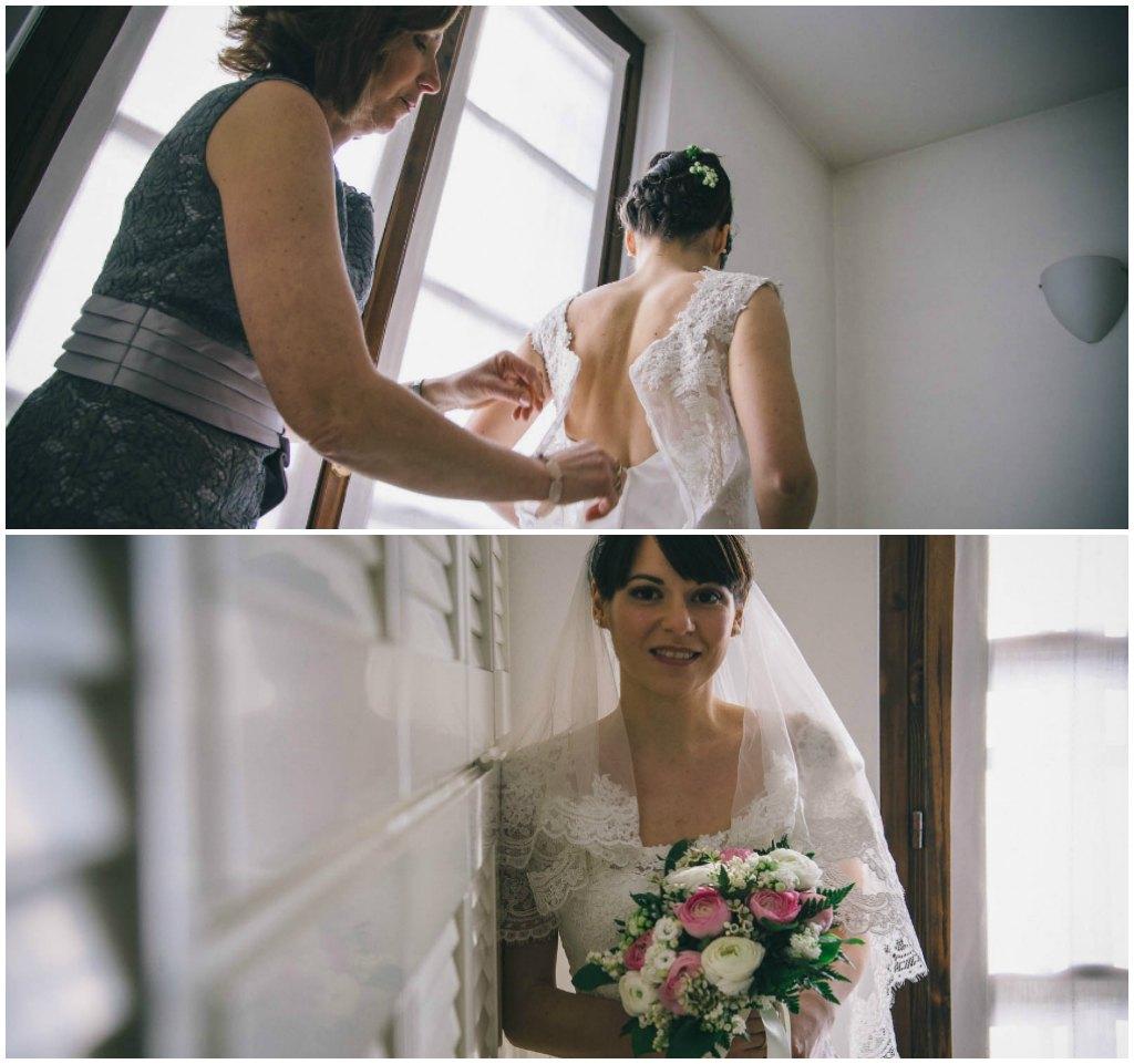 matrimonio cascina caremma: preparazione sposa
