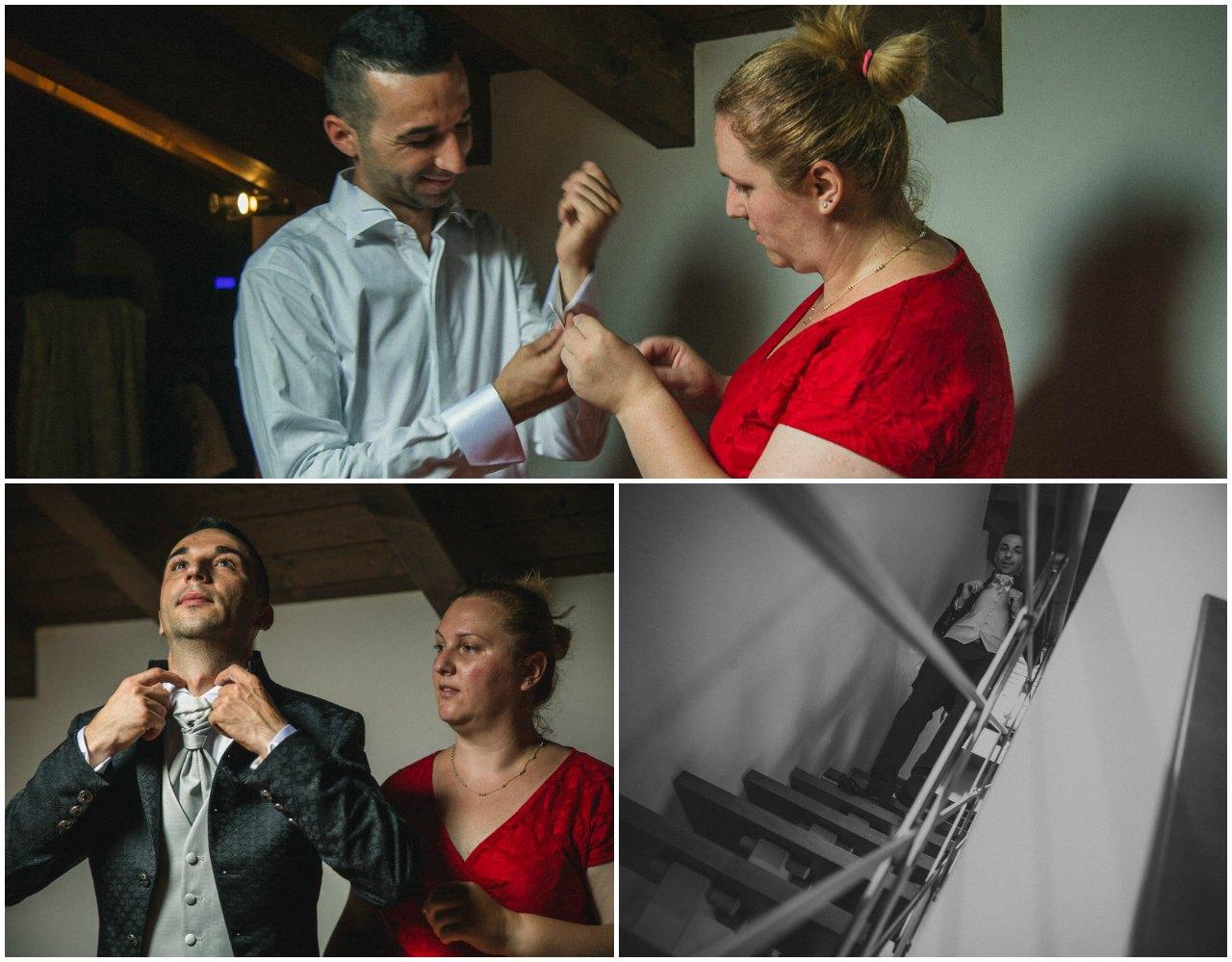 Matrimonio Tenuta Colle Piajo: preparazione dello sposo