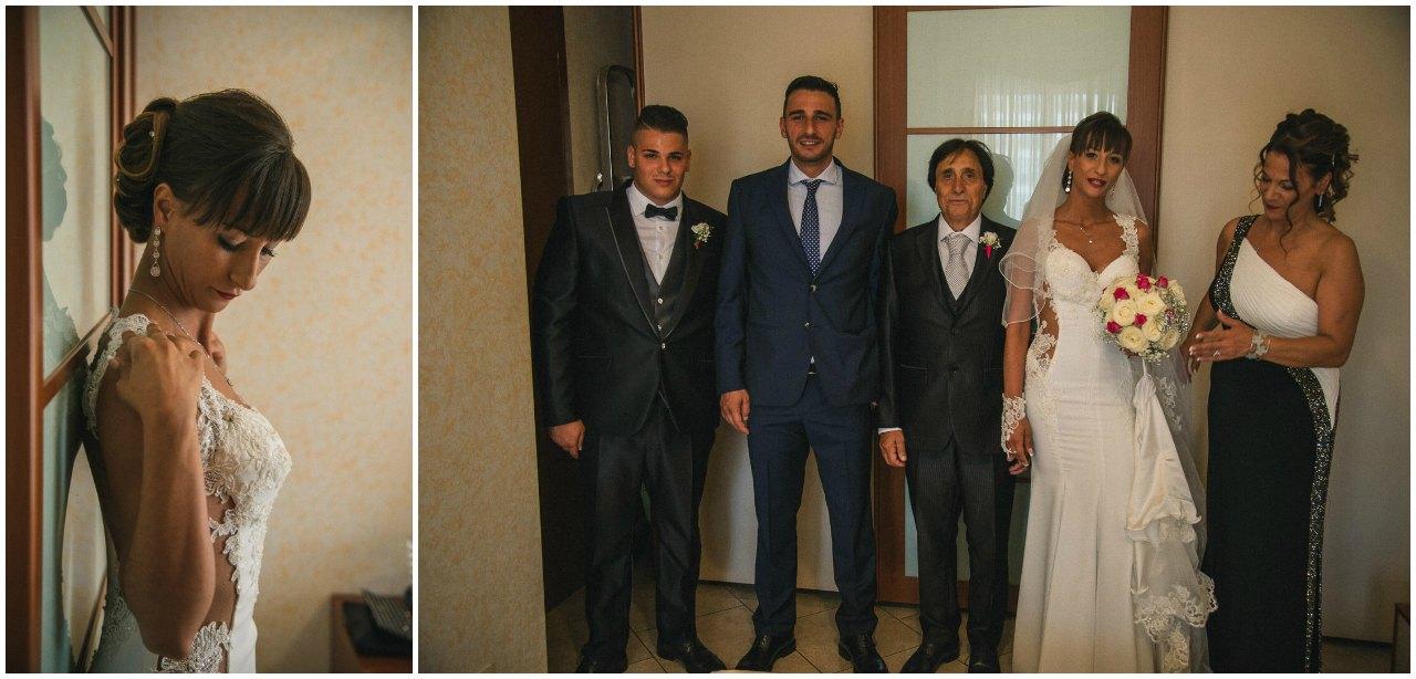 Matrimonio Tenuta Colle Piajo: preparazione e famiglia della sposa
