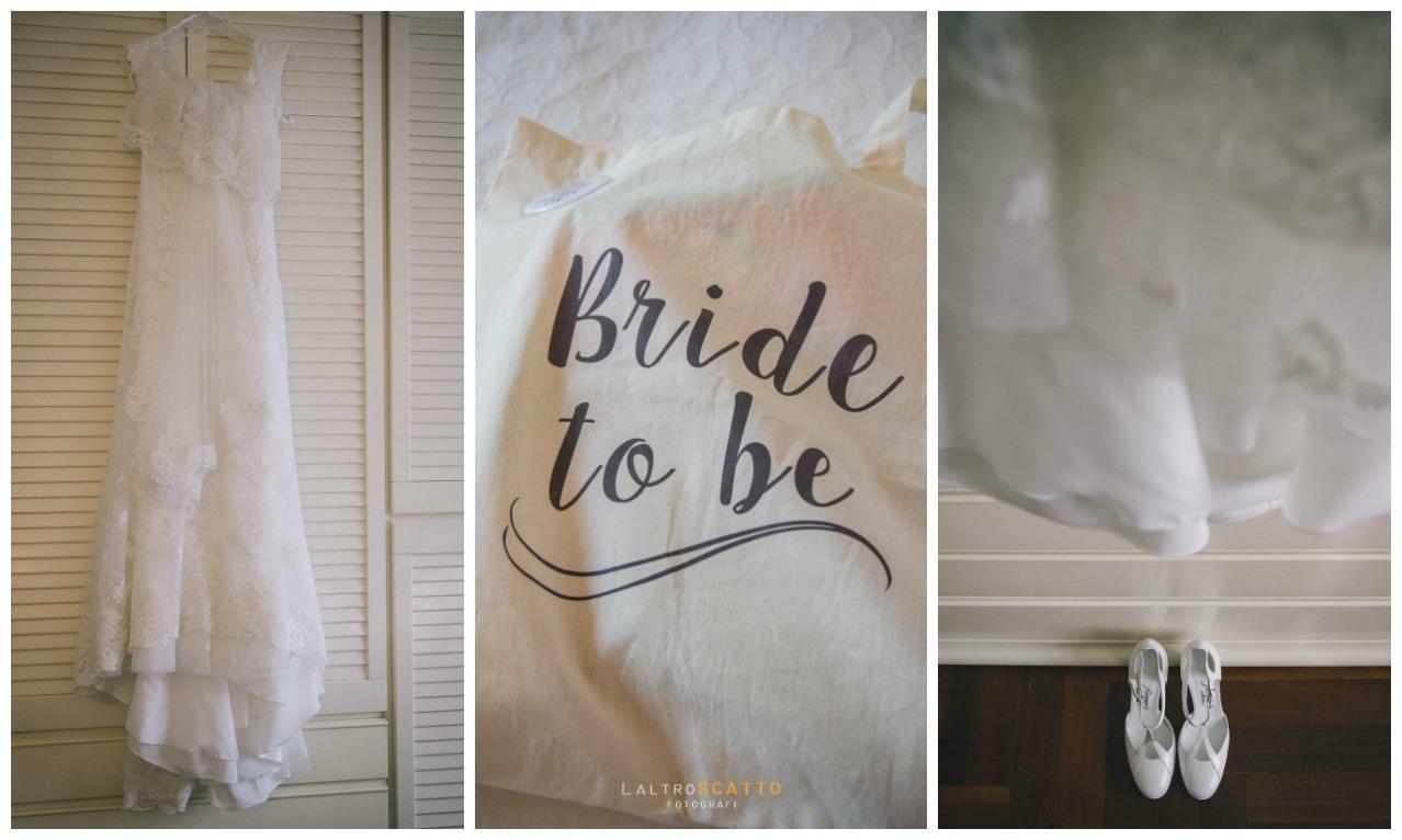 foto preparazione matrimonio: il vestito della sposa