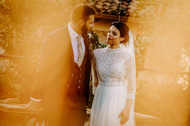 foto naturali di matrimonio: foto al tramonto